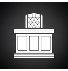 Judge table icon vector