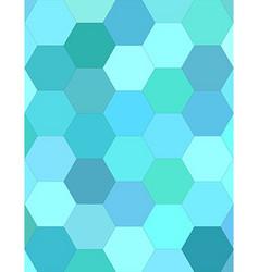 Cyan hexagon mosaic background design vector image