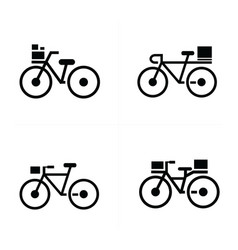 Bicycle and transport icons vector