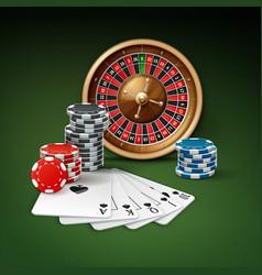 casino gambling attributes vector image