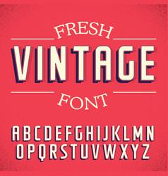 Fresh vintage font poster vector