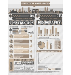 INFOGRAPHIC WORK BROWN vector image