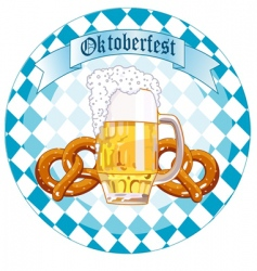 Oktoberfest celebration round design vector image