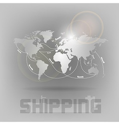 World shipping vector