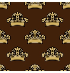 Seamless background pattern of a heraldic crowns vector image