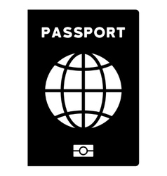 World passport flat icon vector