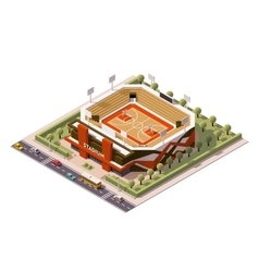Isometric basketball arena vector