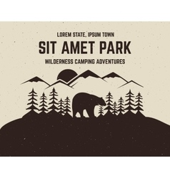Camping brochure and label the concept of vector