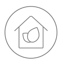 Eco-friendly house line icon vector