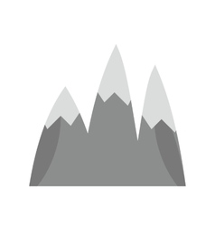 Ice top mountain vector