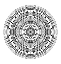 Mandala round ornament vector