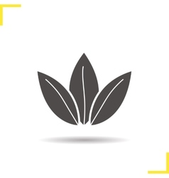 Loose tea leaves icon vector image