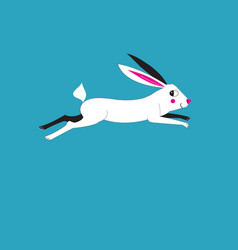 a running hare vector image