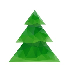 Abstract geometrical christmas background vector