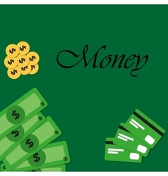 Background with money and credit cards vector image