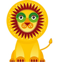 Big lion in white background vector image