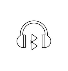 Bluetooth headphones icon vector