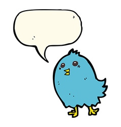 cartoon bluebird with speech bubble vector image