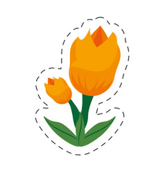 cartoon tulip flower image vector image vector image