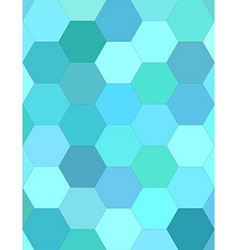 Cyan hexagon mosaic background design vector