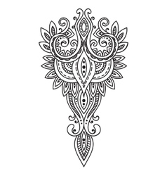 Doodle asian paisley ornament amulet with ethnic vector