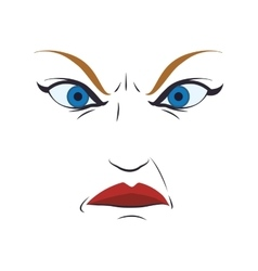 Face angry woman female eyes expression icon vector