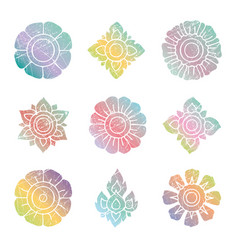 floral thai set vector image