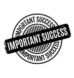 Important success rubber stamp vector
