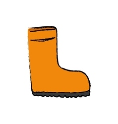 Isolated industry boot vector