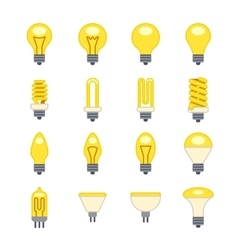 Light bulb flat icons vector image vector image