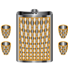 Metallic flask vector image