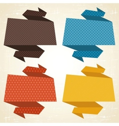 origami background Banner speech bubbles vector image vector image