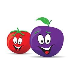 Tomato plum vector