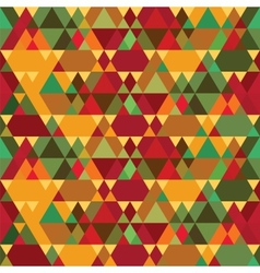 Triangles Vintage Seamless Pattern vector image vector image