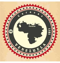 Vintage label-sticker cards of Venezuela vector image vector image
