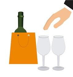 wine concept vector image