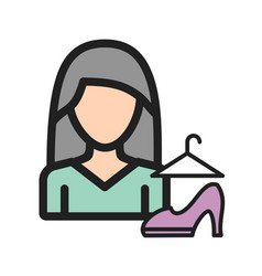 Woman style vector