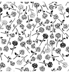 Roses floral seamless pattern background vector