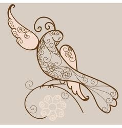 Bird ornament vector