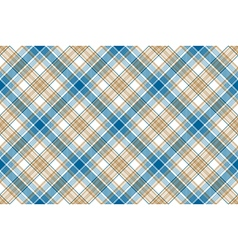 Blue beige check seamless background vector