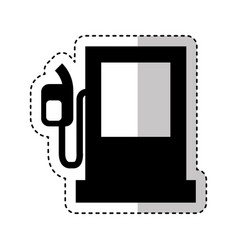 Fuel station isolated icon vector