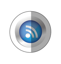 Blue symbol wifi icon vector