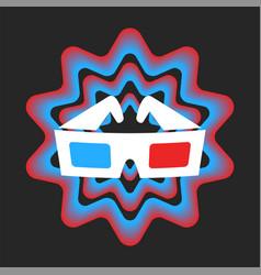 3d movie glasses vector