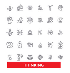 Thinkingideabrain thought mind dream thought vector