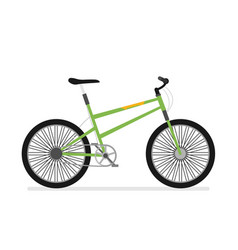 Flat bicycle isolated on white background vector
