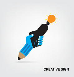 Handshake abstract sign vector