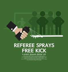 Referee sprays free kick vector