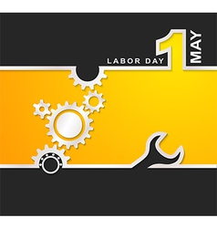 1 May international labour day background vector image