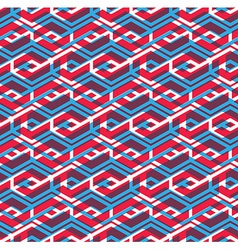 Seamless pattern with parallel intertwine rhombs vector