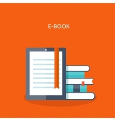E-book flat backgrounds set vector